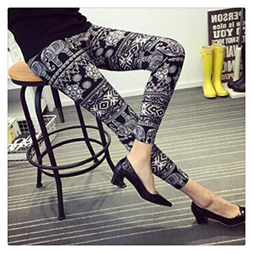 QWERBAM El Tamaño De Impresión Leggins Más Los Pantalones De Legging Legging Mujeres De La Aptitud Elasticidad Impreso Floral Legging (Color : 20, Size : L.)