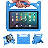Lapogy Kids Case For New Kindle Fire HD 8 Tablet and Fire HD 8 Plus Tablet(10th Generation, 2020 Release) With Light Weight Shockproof Handle Friendly Convertible Stand Kids Tablet Cover,Blue