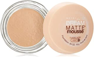 Maybelline Dream Matte Mousse Foundation, Classic Ivory, Light [2], 0.64 oz (Pack of 4)