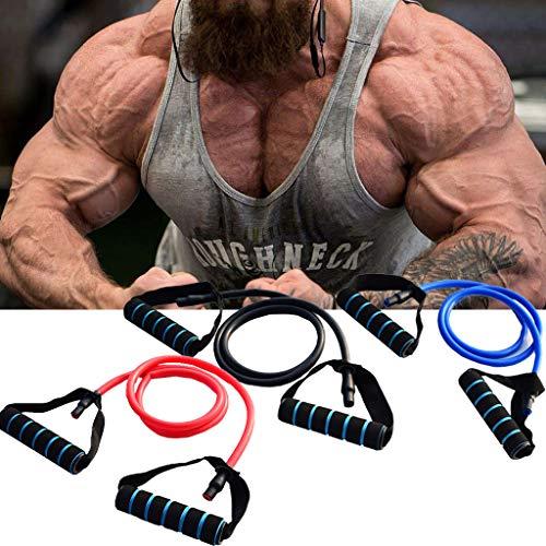 Omiky Brustvergrößerer,Brustmuskel Trainingsseil,Single Resistance Band Muskel Brust Expander Fitnes (Schwarz)