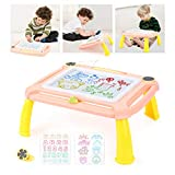 EAHUMM Magnetic Drawing Board Erasable Writing Magna Doodle Sketching Pad with Detachable ...