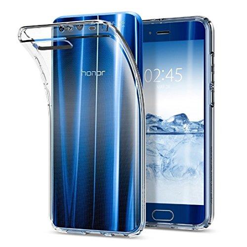 Spigen L17CS21993 Liquid Crystal für Huawei Honor 9 Hülle Soft Flex Silikon Transparent TPU Durchsichtige Schutzhülle Hülle - Crystal Clear