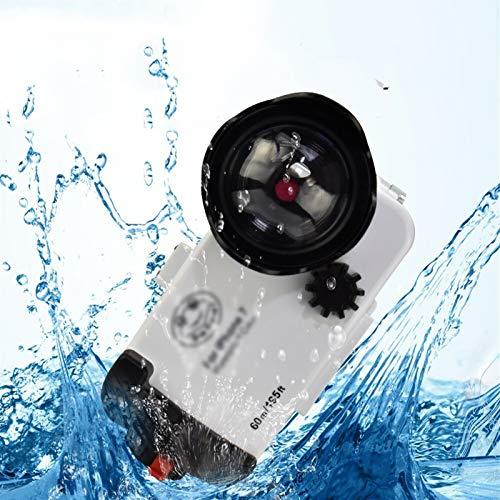 YANGLY Carcasa Silicona Transparente Funda submarina de FLOGS Funda a Prueba de Agua de la Caja a Prueba de Agua Ajuste fit For iPhone 7/8 iPhone 7/8 Plus 60M / 195FT Accesorios de Buceo