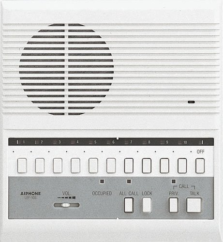 Aiphone LEF-10S Open Voice Selective Call Master Intercom with All-Call; Surface Mount; Accepts Up to 10 Connecting Door, Sub-Master, or Master Intercoms by Aiphone