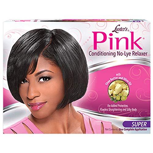 Luster's Kit Défrisant Conditionneur sans Soude Système de Protection Pink Formule pour Cheveux Epais aux Vitamines et Huiles Essentielles