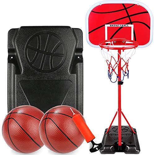 B&H-ERX Basketballkorb Tragbares Basketball-Ständersystem am Pool für Jugendliche Kinder Teenager Indoor Outdoor Kinder Geschenk (3-15 Jahre, einstellbare Höhe 80-170 cm)