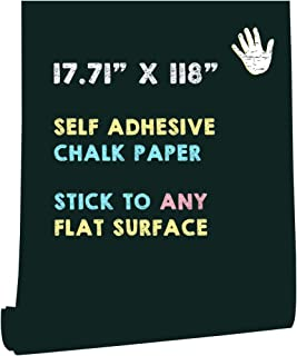 "HeloHo 118""X 17.71"" Green Chalkboard Contact Paper Self Adhesive Blackboard Wallpaper Removable Wallpaper Peel and Stick V..."