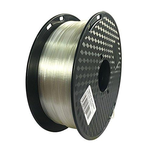 Transparent 3D Printer PC Filament 1.75mm Dimensional Accuracy +/- 0.05mm, 1KG Spool (2.2LBS), 3D Printing Polycarbonate Material