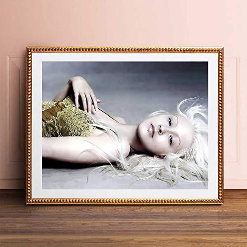 KWzEQ Sänger Musik Poster Wandkunst drucken Poster Mädchen Zimmer Home Decoration,Rahmenlose Malerei,40X60cm