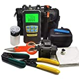 D YEDEMC FTTH Fiber Cold Connection Tool Kit with Fiber Cleaver Visual Fault Locator Optical Power Meter (FC and SC Adapter) Cable Tester Stripping Tool Dust-Free Paper