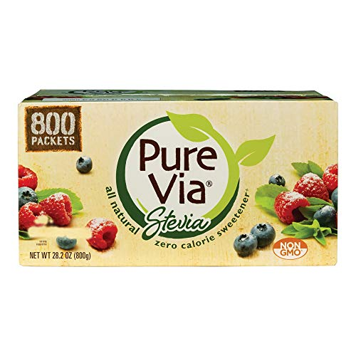 Pure Via Whole Earth Stevia Sweetener 28.2oz (800 packets)
