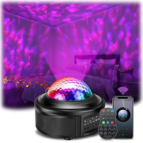 Star Projector,SOLMORE Night Light Projector Galaxy Projector with Bluetooth Music Speaker&Remote Universe Night Light Projection Lamp Star Night Lights for Kids Projector lamp for Bedroom Party Home