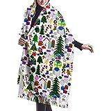 Navidad Muñeco de nieve Árboles Bastones de caramelo Medias Regalos Coronas Estrellas Flores y mitones Collage Chal Envoltura