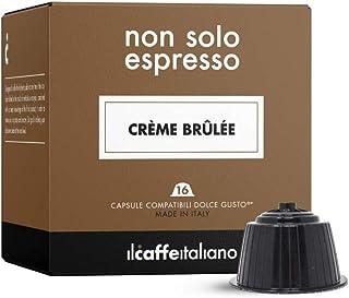 FRHOME - 48 Capsules compatibles Nescafé Dolce Gusto - Crème brûlée - Il Caffè Italiano - FRHOME