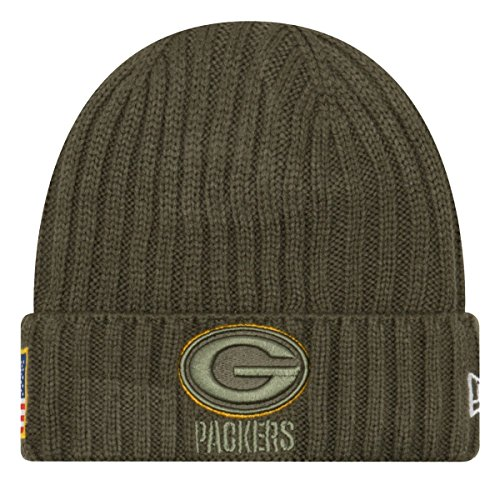 New Era Men's Men's Packers 2017 Salute to Service Cuffed Knit Hat Olive Size One Size