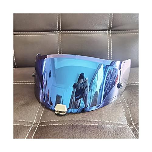 Tokyoo Motorcycle Full Face Casco Visor Lens Funda para H-JC RPPHA-11 RPHA-11/70 Máscara de Visor Visores de Motocicleta Escudo (Color : Blue)