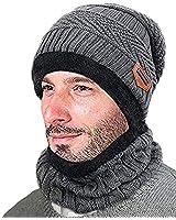 Winter Beanie 2-Piece Hat Scar...