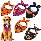 URATOT 6 Pack Halloween Dog Bandanas Costumes Dog Bandanas Washable Pet Neckerchief Dog Bibs for Halloween Party