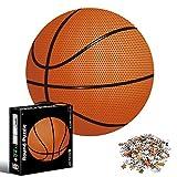 Puzzle Redondo 1000 piezas,Rompecabezas Redondo,Puzzle Adultos,Para Educativo El Alivio del Estrés Circular Desafío Intelectual Juegos Niños Adultos (Baloncesto)