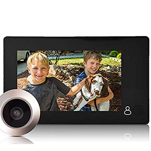 Digitaler Türspion Kamera, 4,3 Zoll HD TFT LCD Bildschirm 1 Million Pixel Außen Digital Durch Viewer Türklingel Kamera 145 Grad Betrachtungswinkel Home Security Kamera