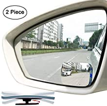 Slim Square Blind Spot Mirror, Ampper HD Glass Frameless Convex Rear View Mirror, Pack of 2