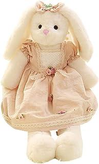 SYXX New fashion bunny doll girl rag doll plush toy trumpet hug cute rabbit rabbit doll children girl princess, beautiful ...
