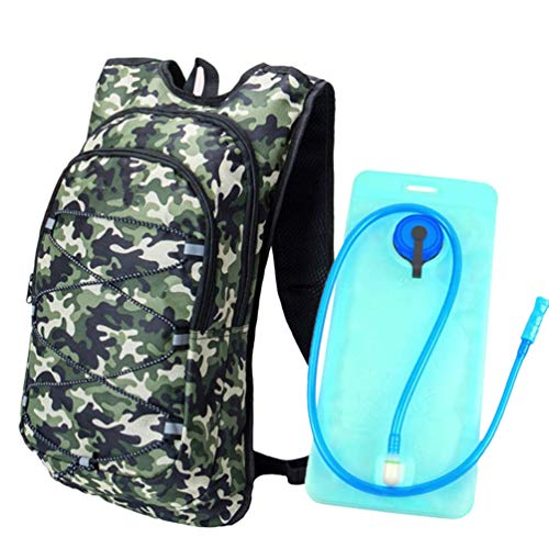 Xingkee Mochila de Hidratación Ligero, Mochila con Bolsa de Agua 2L para Mujer Hombre, Respirable Unisex Mochilas Trail Running para Correr, Senderismo, Ciclismo, Camping Estilo#2