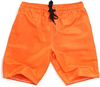 MENGQIN 🍁🍁 Men's Summer Swim Trunk Solid Color Casual Athletic Large Size Beach Short Pants