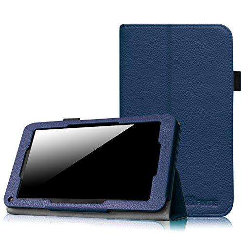 Fintie Odys Mira / LENOTAB Win / Trimeo Win Hülle Hülle- Slim Fit Folio Kunstleder Schutzhülle Cover Tasche mit Ständerfunktion für Odys Mira 17,8 cm (7 Zoll) X610102 / LENOTAB Win / Trimeo Win 17,8 cm (7 Zoll) Tablet-PC, Marineblau