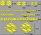 Ecoshirt OJ-DDHT-52XN Pegatinas Moto Rgsx Suzuki R170 Stickers Aufkleber Decals Autocollants Adesivi, Amarillo