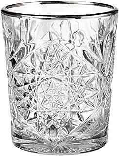 Libbey - Hobstar - Whiskyglas, Wasserglas, Saftglas - Kristall - mit edlem Silberrand - 1 Stück