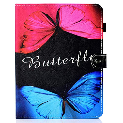 zl one Compatible con/reemplazo para Tablet PC 7 'Universal PU cuero Flip Cover Stand Magnetic Wallet Case (mariposa)