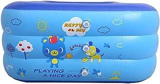 ZGXOAG Piscina Infantil Piscina Infantil Infantil Inflable Rectangular Engrosamiento Jardin Piscina Uso Exterior PVC Azul-Blue-210 x 145 x 63cm