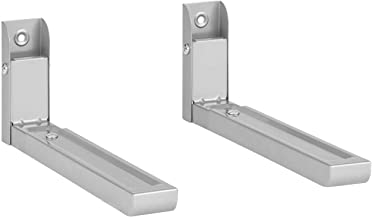 Klarstein MB-6 - Soporte para microondas, Hasta 30 kg, Para microondas de 32,5-49,2 cm de profundidad, Instalación en pared, Ajustable, Acero con revestimiento en polvo, Plateado