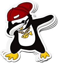 shopdoz 3 PCs Stickers Dabbing Penguin Dab Penguin Funny Penguin Lover 3×4 Inch Die-Cut Wall Decals for Laptop Window