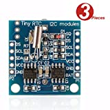 WINGONEER 3Pcs Tiny RTC I2C DS1307 AT24C32 Real Time Clock Module for Arduino AVR PIC 51 ARM