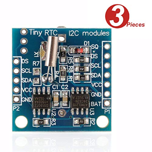 DollaTek 3Pcs Tiny RTC I2C DS1307 AT24C32 Real Time Clock Module für Arduino AVR PIC 51 ARM