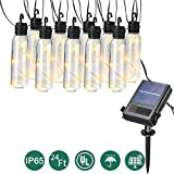 Solar Lights Clearance LED Outdoor Solar String Lights, 24 Ft Patio Lights UL listed Backyard Patio Lights Outdoor String Lights for Bistro Pergola Deckyard Tents Market Cafe Gazebo Porch,Warm White