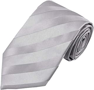 Jacob Alexander Boys' Solid Color Tonal Stripe Neck Tie