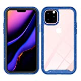 Clear Back Case,Compatible with Apple iPhone 11 PRO,Anti-Scratch, Hard Shell Shockproof Hybrid Shockproof Rugged Clear Bumper Cover Protective Case Cover for iPhone 11 PRO-Blue
