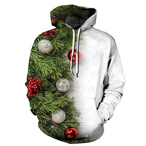 Morton PegfwaS Weihnachtsbaum 3D Druckte Mit Kapuze Strickjacke, Paarbaseballuniform