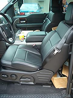 Durafit Seat Covers Made to fit 2004-2008 Ford F150 Xcab, Exact Fit, Front and Back Set, Front Buckets, Rear Seat is 60/40 Bases with Solid Back. Automotive Twill Fabric in Black.