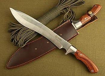 WESTERN TOWN Couteau de Chasse Couteau Lame Fixe Couteaux de Survie Camping Randonnée Accessoires