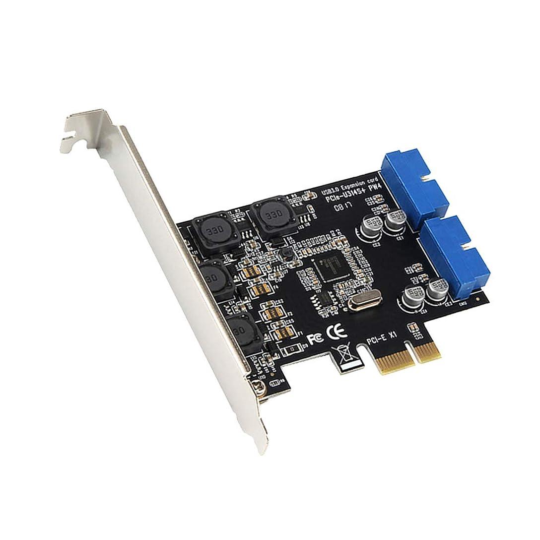付属品鉱石ダーリンFlameer PCI-E Express カード - 2ポート 内部19ピン USB3.0コントローラー ハブアダプター