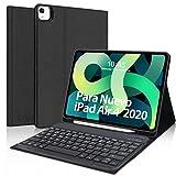 Teclado Español para iPad Air 4,KVAGO Funda con Teclado Bluetooth para iPad Air 4 10.9 2020/iPad Pro 11 2020/2018,Ultra Slim Función de Soporte Protectora Plegable Smart Cover para iPad Air 4,Negro