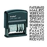Trodat Printy 4817 Timbro polinomio con Data Autoinchiostrante, 12 Testi Italiano - Cartuc...