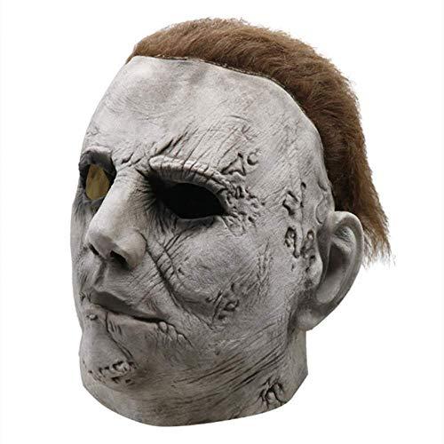 ZWWZ Halloween de Michael Myers Mscara de Horror Mscara Cosplay for Adultos Ltex Casco Integral Partido del Carnaval Scary Movie Complementos Disfraz HAIKE