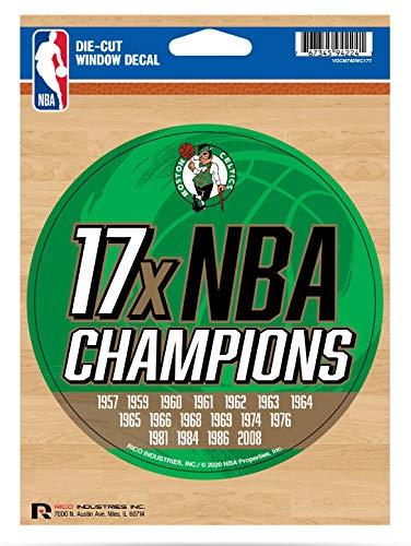Celtics 5' Decal Sticker 17X Time Champions Flat Vinyl Auto Emblem Basketball
