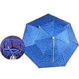 傘 頭にかぶる傘2020版レジャーハットHema傘ハット 帽子傘 両手がふさがない ハンズフリー 頭傘 自由に屋外作業対応でき 晴雨兼用帽子 傘 釣り用 フィッシング ガーデニング 青