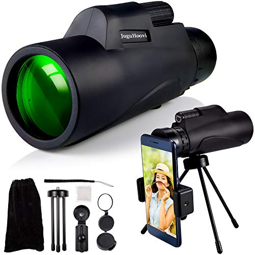 Monocular Telescope for Smartphone 12X50, Monocular with Holder & Tripod, HD Monoculars Zoom BAK4 Prism for Adults Bird Watching Camping Wildlife Hiking